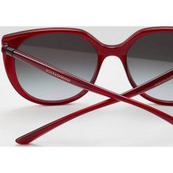 Dolce&Gabbana Okulary przeciwsłoneczne transparent bordeaux. Czerwone okulary przeciwsłoneczne damskie lenonki Dolce&Gabbana. Za 819,00 zł.
