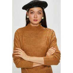 Vero Moda - Sweter Agoura. Brązowe swetry klasyczne damskie Vero Moda, l, z dzianiny. Za 149,90 zł.