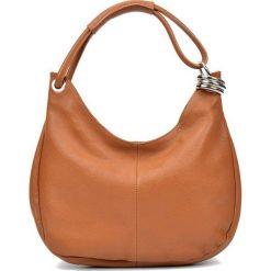 Torebki i plecaki damskie: Skórzana torebka w kolorze koniaku – (S)39 x (W)28 x (G)3 cm