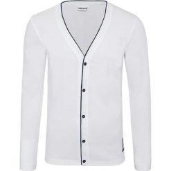 """Kardigan """"Breton"""" w kolorze białym. Białe kardigany męskie Nebulus, m, z aplikacjami. W wyprzedaży za 130,95 zł."""