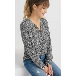 Bluzki asymetryczne: Bluzka koszulowa z wzorem
