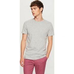 T-shirt z żakardowej dzianiny - Jasny szar. Szare t-shirty męskie Reserved, l, z dzianiny. Za 49,99 zł.