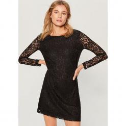 Sukienka mini z koronki - Czarny. Czarne sukienki koronkowe marki numoco, l, z długim rękawem, midi, oversize. Za 99,99 zł.