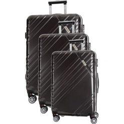 Zestaw walizek w kolorze antracytowym - 3 szt. Szare walizki marki Travel One, z materiału. W wyprzedaży za 619,95 zł.