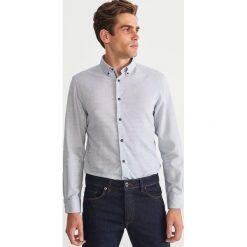 Koszula regular fit - Niebieski. Niebieskie koszule męskie na spinki Reserved, l. Za 119,99 zł.