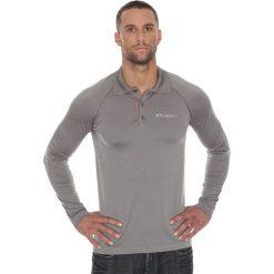 Koszulki polo: Brubeck Koszulka męska polo Prestige z długim rękawem szara r. M (LS10620)