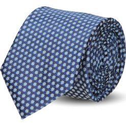 Krawat platinum granatowy classic 242. Niebieskie krawaty męskie Recman. Za 49,00 zł.