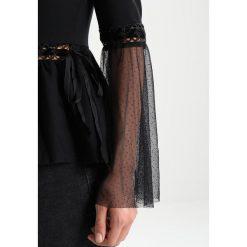 Lost Ink CHIFFON AND RIBBON SLEEVE TOP Bluzka z długim rękawem black. Czarne topy damskie Lost Ink, z elastanu. W wyprzedaży za 127,20 zł.