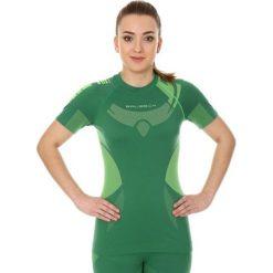 Bluzki sportowe damskie: Brubeck Koszulka damska zielono-limonkowa r. L (SS11960)