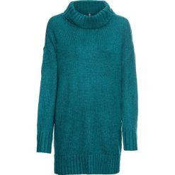 Sweter z golfem bonprix kobaltowo-czarny melanż. Niebieskie golfy damskie marki bonprix, melanż. Za 109,99 zł.
