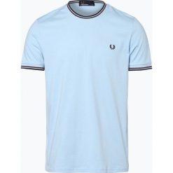 Fred Perry - T-shirt męski, niebieski. Niebieskie t-shirty męskie Fred Perry, m, z dżerseju. Za 179,95 zł.