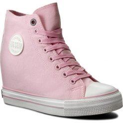 Sneakersy BIG STAR - W274661 Pink. Czerwone sneakersy damskie BIG STAR, z gumy. Za 129,00 zł.