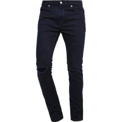 Topman MORGAN Jeans Skinny Fit dark blue. Niebieskie jeansy męskie Topman. Za 229,00 zł.