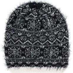 Czapki damskie: Art of Polo Czapka damska Winter grass czarno biała