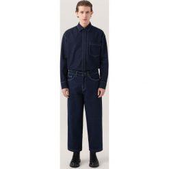 Jeansy męskie regular: Jeansy z szerokimi nogawkami re.design - Granatowy
