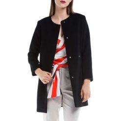 Płaszcz damski 84-9W-101-1. Czarne płaszcze damskie Wittchen, z wełny, eleganckie. Za 649,00 zł.