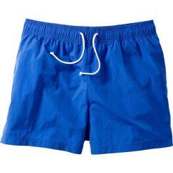 Szorty plażowe bonprix lazurowy niebieski. Niebieskie bermudy męskie bonprix, w paski. Za 34,99 zł.