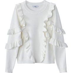 Swetry damskie: Sweter z okrągłym wycięciem szyi z grubej dzianiny