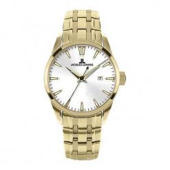 """Zegarek """"1-1445J"""" w kolorze złoto-białym. Białe, analogowe zegarki damskie Hugo Boss, Festina & Joop!, ze stali. W wyprzedaży za 499,95 zł."""