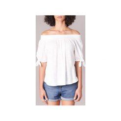 Bluzki Roxy  CARRIBEAN MOOD. Białe bluzki na imprezę marki Roxy, l, z nadrukiem, z materiału. Za 159,20 zł.