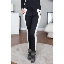 Spodnie dresowe damskie: Spodnie dresowe czarno-kremowe