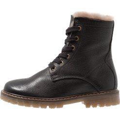 Buty zimowe damskie: Bisgaard Botki sznurowane black