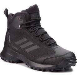 Buty adidas - Terrex Heron Mid Cw Cp AC7841 Cblack/Cblack/Grefou. Czarne buty trekkingowe męskie Adidas, z materiału, outdoorowe, adidas terrex, climaproof (adidas). W wyprzedaży za 419,00 zł.