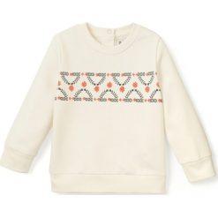 Bluza z nadrukiem 1 miesiąc - 3 lata Oeko Tex. Szare bluzy dziewczęce rozpinane marki La Redoute Collections, z nadrukiem, z bawełny, z długim rękawem, długie. Za 43,64 zł.