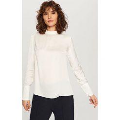 Bluzy damskie: Bluza ze stójką - Kremowy