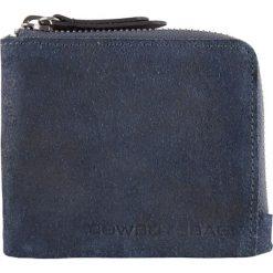 """Portfele damskie: Skórzany portfel """"Boone"""" w kolorze granatowym – 11 x 10 x 2 cm"""