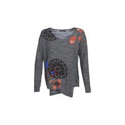 T-shirty z długim rękawem Desigual  UMA. Szare t-shirty damskie Desigual, l. Za 259,00 zł.