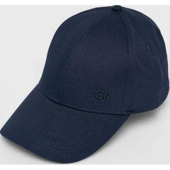 Calvin Klein Jeans - Czapka. Czarne czapki z daszkiem męskie marki Calvin Klein Jeans, z bawełny. Za 119,90 zł.