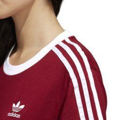 KOSZULKA ADIDAS 3STRIPES TEE CY4752. Brązowe bluzki asymetryczne Adidas. Za 99,00 zł.