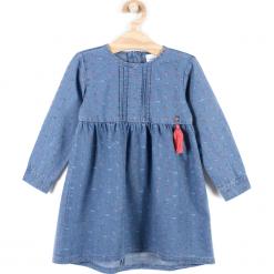 Sukienka. Niebieskie sukienki dziewczęce z falbanami FOREST HEART, z bawełny, z długim rękawem, długie. Za 59,90 zł.