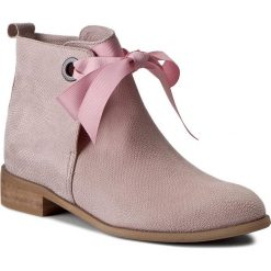 Botki LOFT37 - Sweet Boots AN6 Różowy. Czerwone buty zimowe damskie Loft37, ze skóry. W wyprzedaży za 359,00 zł.