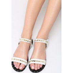Białe Sandały Lunar. Białe sandały damskie Born2be, z materiału, na obcasie. Za 69,99 zł.