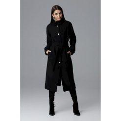 Długi płaszcz reglan m624. Czarne płaszcze damskie Global, m, w paski, eleganckie. Za 299,00 zł.