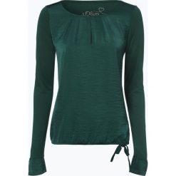 S.Oliver Casual - Damska koszulka z długim rękawem, zielony. Zielone t-shirty damskie s.Oliver Casual, s, z satyny. Za 119,95 zł.