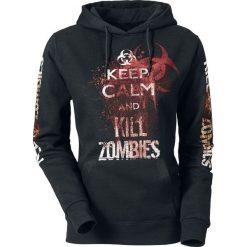 Bluzy rozpinane damskie: Keep Calm And Kill Zombies Bluza z kapturem damska czarny