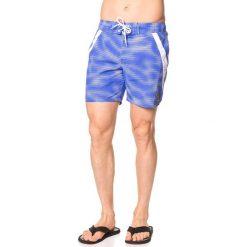 Kąpielówki męskie: Szorty kąpielowe w kolorze niebiesko-białym