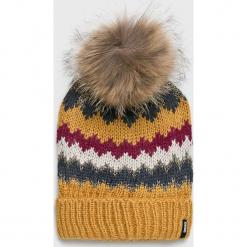Answear - Czapka. Brązowe czapki zimowe damskie ANSWEAR, z dzianiny. Za 49,90 zł.