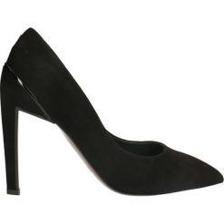 Czółenka ANET. Czarne buty ślubne damskie Gino Rossi, ze skóry, na wysokim obcasie, na szpilce. Za 299,90 zł.