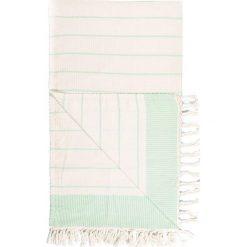 Chusta hammam w kolorze kremowo-zielonym - 180 x 100 cm. Czarne chusty damskie marki Hamamtowels, z bawełny. W wyprzedaży za 43,95 zł.