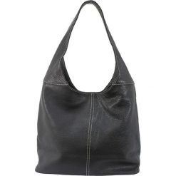 Torebki klasyczne damskie: Skórzana torebka w kolorze czarnym – 34 x 55 x 16 cm