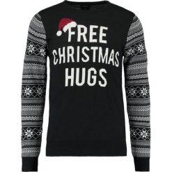 Swetry klasyczne męskie: Burton Menswear London FREE CHRISTMAS HUGS Sweter black