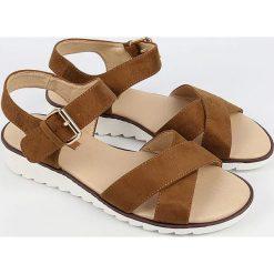 Sandały damskie: Sandały w kolorze jasnobrązowym
