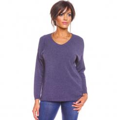 """Sweter """"Karine"""" w kolorze niebieskim. Niebieskie swetry oversize damskie marki So Cachemire, s, z kaszmiru. W wyprzedaży za 173,95 zł."""