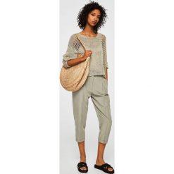 Mango - Sweter Craft. Szare swetry klasyczne damskie Mango, l, z dzianiny, z okrągłym kołnierzem. Za 139,90 zł.