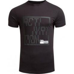 T-shirt męski TSM607 - CZARNY - Outhorn. Czarne t-shirty męskie marki Outhorn, na jesień, m, z bawełny. W wyprzedaży za 27,99 zł.