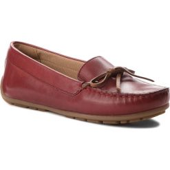 Mokasyny CLARKS - Dameo Swing 261330214 Red Leather. Czerwone mokasyny damskie Clarks, z materiału. W wyprzedaży za 199,00 zł.